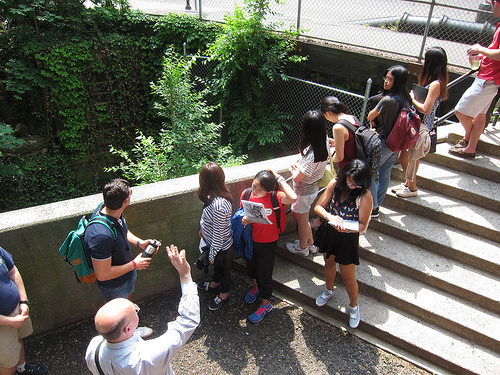 The class group on a tour of New Haven.