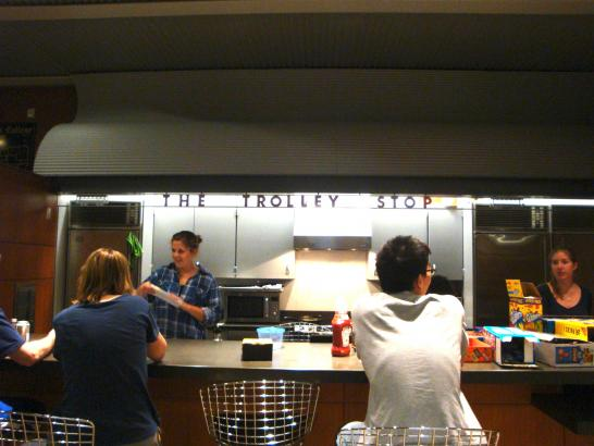 """The Trolley Stop"", Calhoun College's buttery."