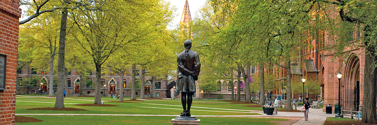 Nathan Hale statue on old Campus