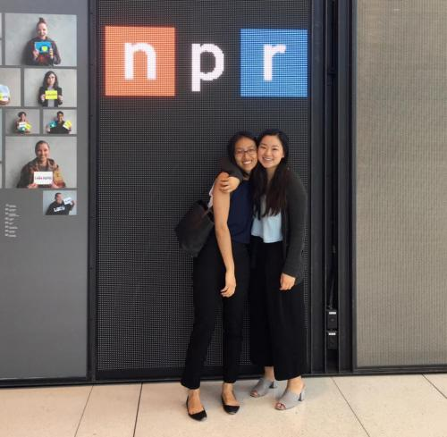 A visit to the NPR with a tour led by my friend Grace '18