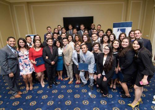 A picture of CHCI summer interns and staff on Capitol HIll.