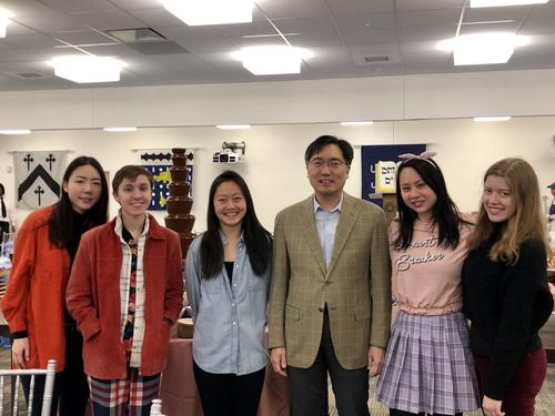 students with dean chun