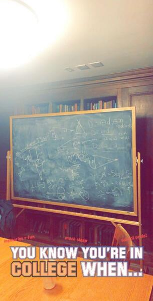chalkboard astronomy notes