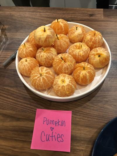 tangerines as pumpkins