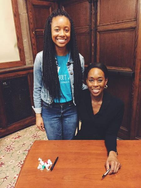 Picture of Margot Lee Shetterly, the author of Hidden Figures, and myself!