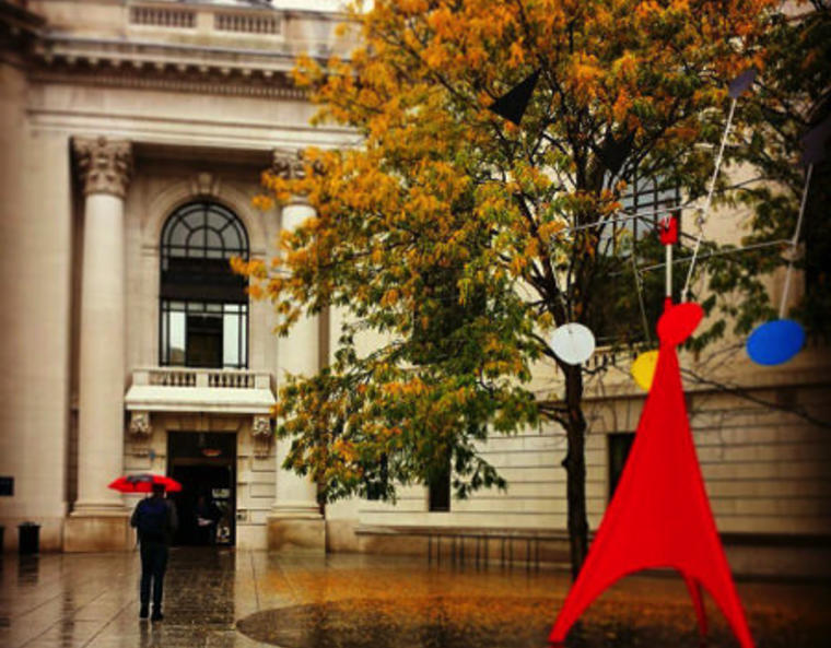 A rainy Autumn day on the old campus.
