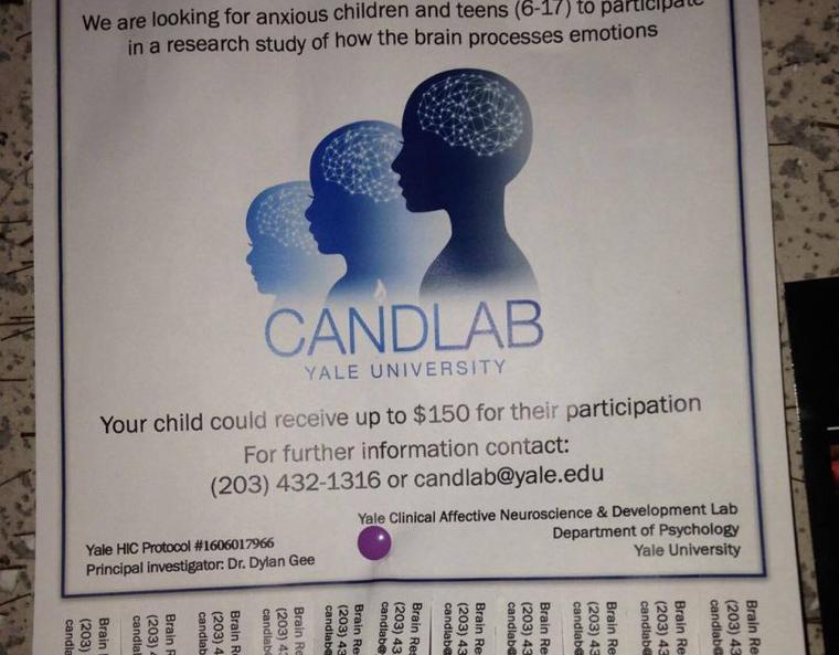 flyer soliciting research participants