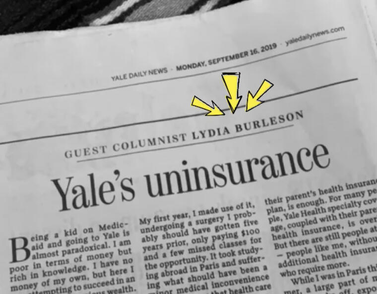yale daily news article