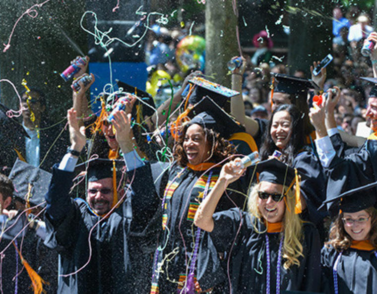 students at Yale commencement