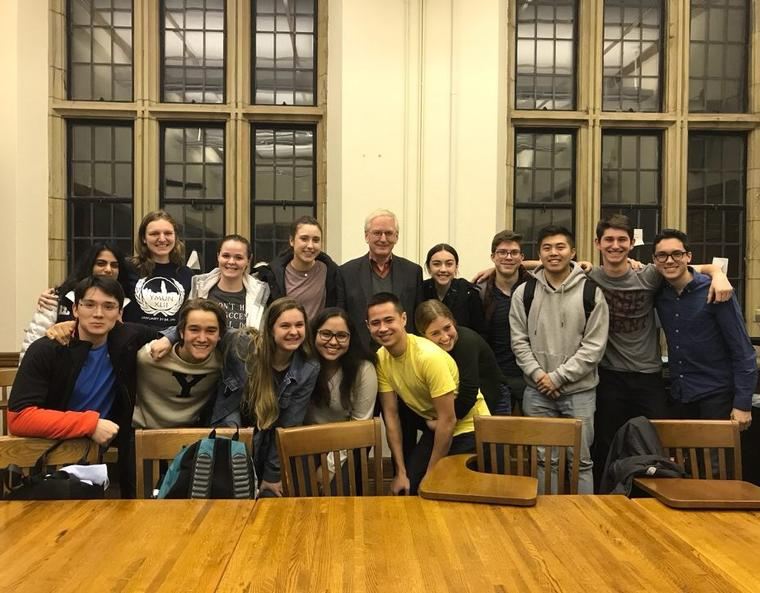 My first semester philosophy class (feat. John Hare) at our last class gathering/study session.