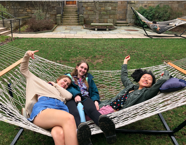 pals on a hammock
