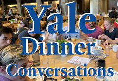 College Dining Hall Dinner Table with students