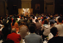 A diverse group of Yale students attending the Yale Diwali Pooja.
