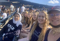 Students at Yale Football Game