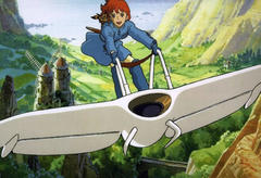 """A scene from the Studio Ghibli film """"Nausicaä of the Valley of the Wind""""."""