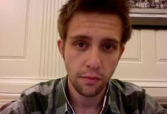 Webcam photo of the male author.