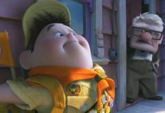 """A still from the Disney-Pixar animated film """"Up!"""""""
