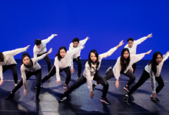 shot of dancers
