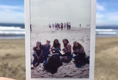 My friends and me at the beach our senior fall