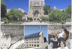 Tour options for the Yale University Virtual Tour: Campus Tour, Residential College Tour, Sciences Tour, Atheltic Tour.